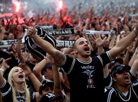 Foto da torcida da Gaviões da Fiel, que baniu gritos de homofobia no futebol
