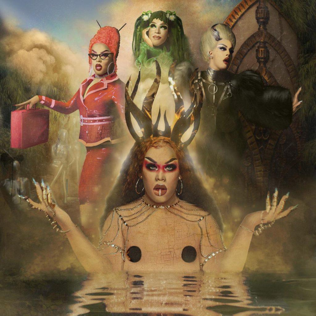 Arte desenvolvida por fãs que mostra Gloria em seus últimos clipes de Alegoria